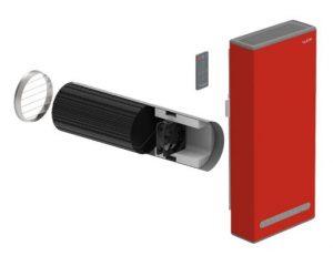 Приточно-вытяжная установка Vakio Base Plus Red flame